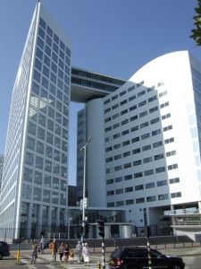 The ICC building at the Hague where the court has headquarters.