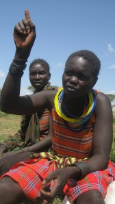 Lucia talking to me in Moroto, Northeastern Uganda. Rosebell Kagumire/2009