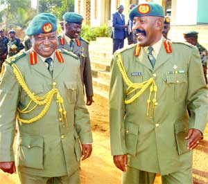 Brig. Bernard Rwehururu new chairman of the General Court Martial and Lt. Gen. Ivan Koreta