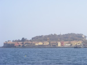 A view of the Island of Goree is 2 kilometres from Dakar main harbour. Rosebell Kagumire photo