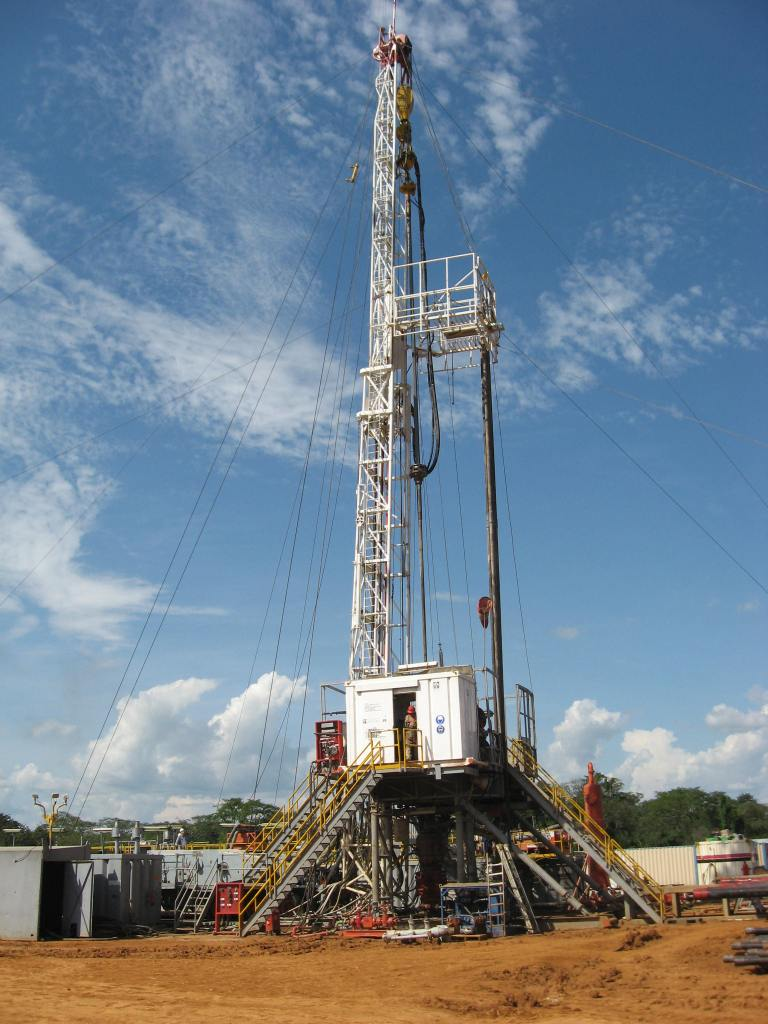 Oil exploration works going on in Uganda's Albertine region. The area is facing ethnic tensions
