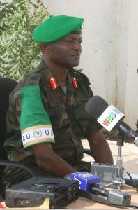 Maj.Gen.Mugisha, the injured force commander in Somalia. Daily Monitor photo.