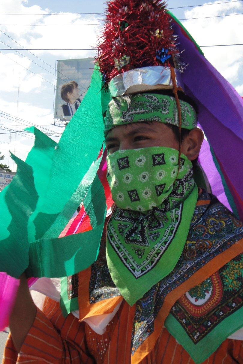 A man from one Mexico's indigenous communities taking part in the protest.