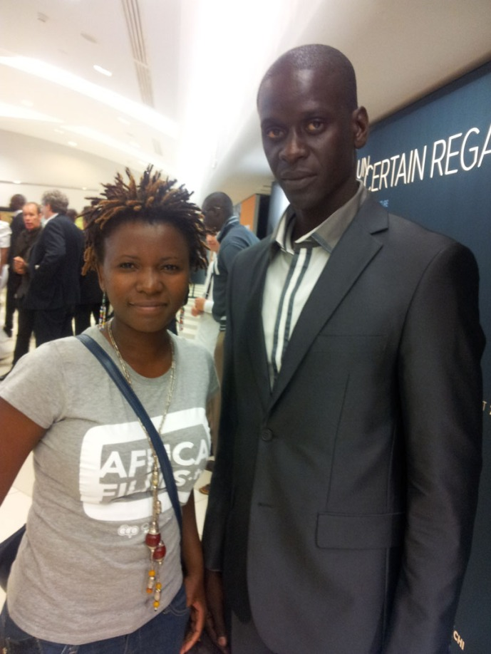 I had a chance to take a photo with Ndiaye, Senegales model, comedia and actor who's the lead character in La Pirogue.