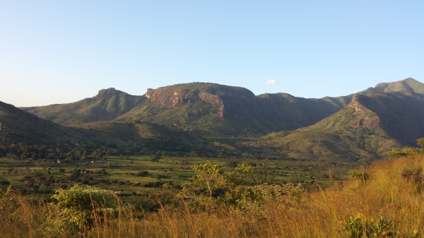 View from Mt.Moroto. It is a great climb and good for viewing the sunset.