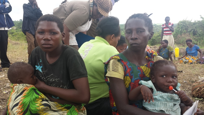 Some women at  meeting we had in Kyangwali