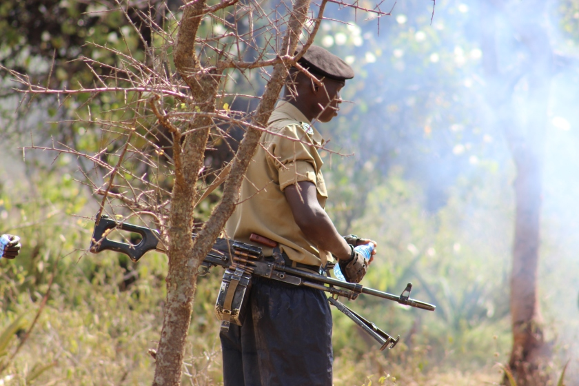 Never seen such big guns with Police but this really shows the fragility of peace in Karamoja.